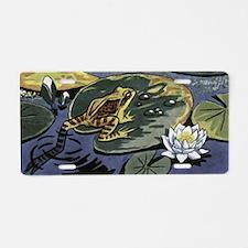 Pond Frog Aluminum License Plate