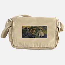 Pond Frog Messenger Bag