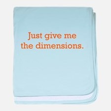 Give me the Dimensions baby blanket