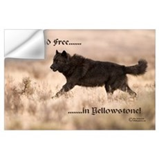 """Black Wolf"" Wall Decal"