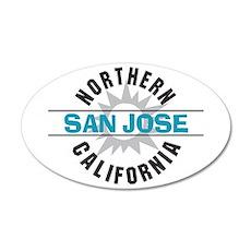 San Jose California 38.5 x 24.5 Oval Wall Peel