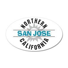 San Jose California 22x14 Oval Wall Peel