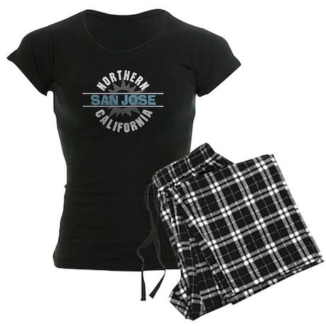 San Jose California Women's Dark Pajamas