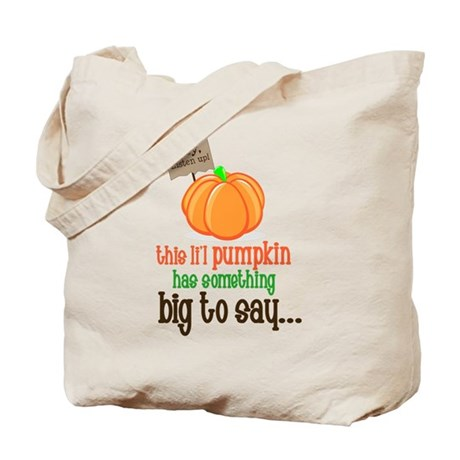 Pumpkin Big Sister Tote Bag