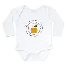 Mommys Pumpkin Poem Long Sleeve Infant Bodysuit