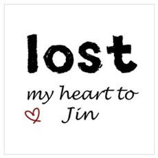 LOST my heart to Jin Framed Print
