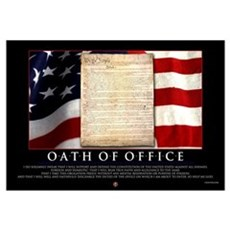 Oath of Office 23x35 Canvas Art