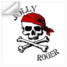 Jolly Roger Bandana Wall Decal