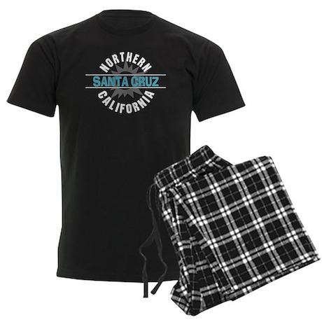 Santa Cruz California Men's Dark Pajamas