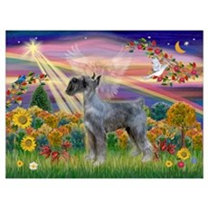 Autumn Angel PS G.Schnauzer Canvas Art
