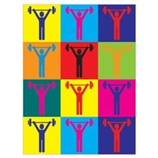 Weight Lifting Pop Art Poster