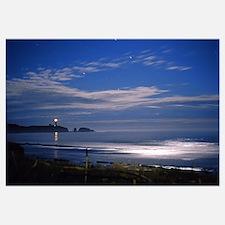 """Agate Beach Moonrise"" 15x19_Framed_Print"