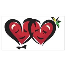 Two Loving Hearts Poster