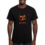 Halloween Pumpkin Men's Fitted T-Shirt (dark)