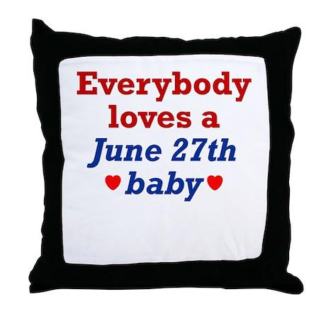 June 27th Throw Pillow