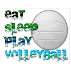 Eat sleep volley 2 Poster