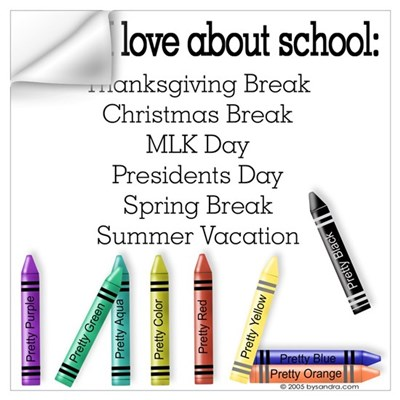Things I Love About School! Wall Decal
