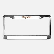 Krystal Fiesta License Plate Frame