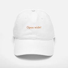 Open Wide Baseball Baseball Cap