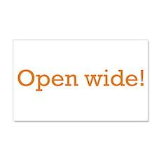 Open Wide 22x14 Wall Peel