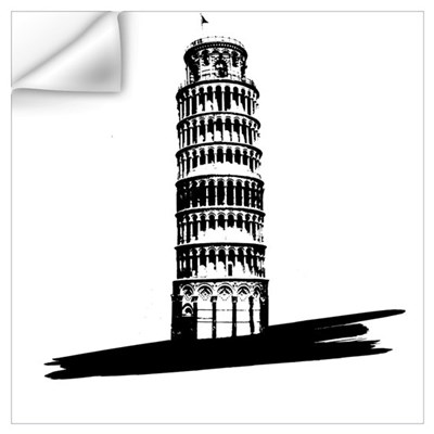 """The Tilting Earth of Pisa"" Wall Decal"