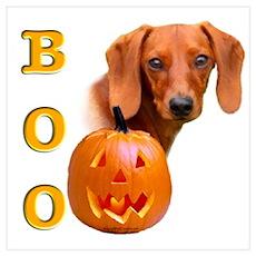 Halloween Dachshund Boo Poster