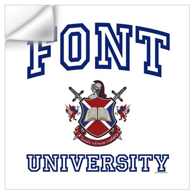 FONT University Wall Decal