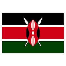 Kenyan flag Poster