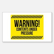 Contents under pressure Decal