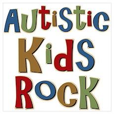Autistic Kids Rock Poster