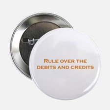 """Debits and Credits 2.25"""" Button (10 pack)"""