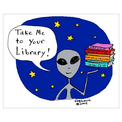 Take Me To Your Library Poster