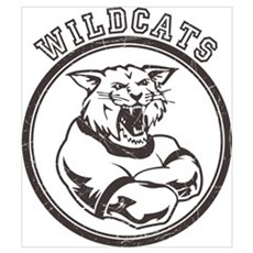 Wilcats team Mascot Graphic Poster