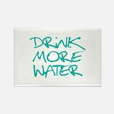 Drink More Water_Blue2 Rectangle Magnet