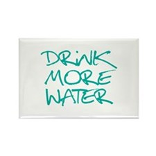 Drink More Water_Blue2 Rectangle Magnet (100 pack)