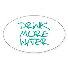 Drink More Water_Blue2 Decal