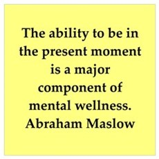 Abraham Maslow quotes Framed Print