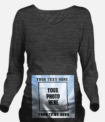 Personalized Sports Long Sleeve Maternity T-Shirt