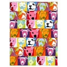Pop Art Pit Bulls Canvas Art
