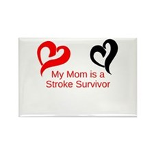 My Mom Is a Stroke Survivor Rectangle Magnet