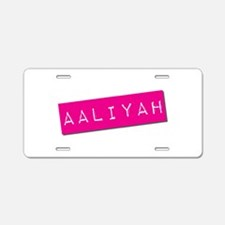Aaliyah Punchtape Aluminum License Plate