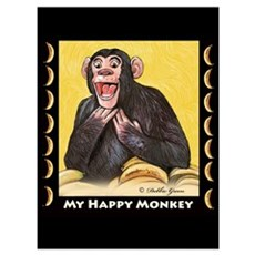 My Happy Monkey Poster
