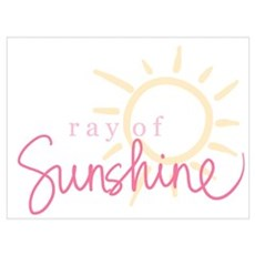 Ray of Sunshine (pink) Framed Print