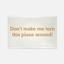 Turn this Plane Rectangle Magnet