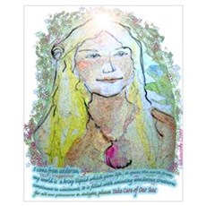 "Print ""Save our Seas Environment Mermaid&quot Canvas Art"