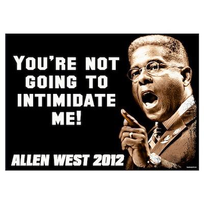 Allen West - Intimidate Poster