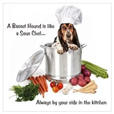 Basset Chef Canvas Art