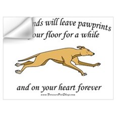 Greyhound Pawprints Wall Decal