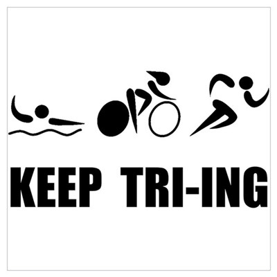 KEEP TRI-ING Framed Print