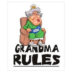 GRANDMA RULES Poster